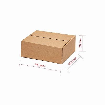 Caixa Papelão p/ Sedex Correio E-Commerce C: 19 x L: 16 x A: 7 (Kit 125 Peças)