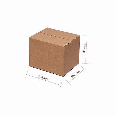 Caixa Papelão Kit 25 Unidades Para E-Commerce Loja Virtual Marketplaces 30x25x23cm