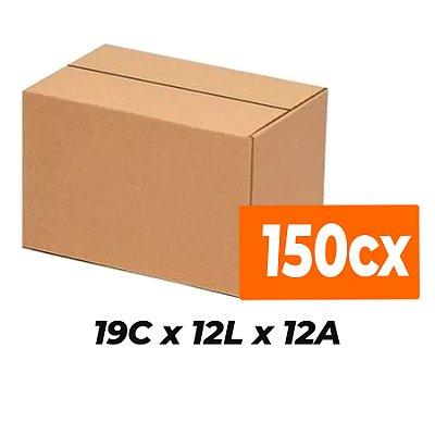 Caixa de Papelão Sedex Correio E-Commerce C:19 x L:12 x A:12 (Kit 150 Unidades)