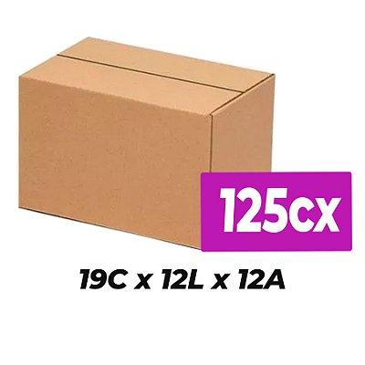 Caixa de Papelão Sedex Correio E-Commerce C:19 x L:12 x A:12 (Kit 125 Unidades)