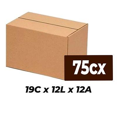 Caixa de Papelão Sedex Correio E-Commerce C:19 x L:12 x A:12 (Kit 75 Unidades)