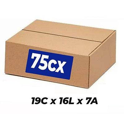 Caixa Papelão p/ Sedex Correio E-Commerce C:19 x L:16 x A: 7 cm (Kit c/ 75 unidades)
