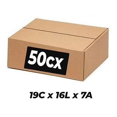 Caixa Papelão p/ Sedex Correio E-Commerce 19x16x7cm Kit 50 C