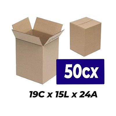 Caixa Papelão p/ Sedex Correio E-Commerce 19x15x24cm Kit 50 C
