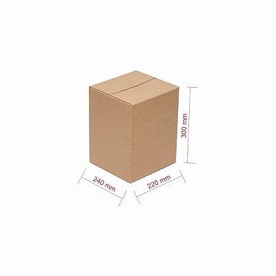 Caixa Papelão p/ Sedex Correio E-Commerce 24x22x30cm - Fardo 25 Caixas C