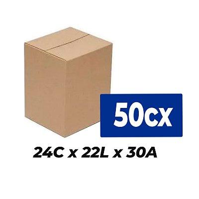 Caixa Papelão p/ Sedex Correio E-Commerce 24x22x30 cm (Kit c/ 50 unidades)