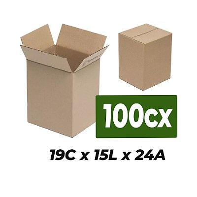 Caixa Papelão p/ Sedex Correio E-Commerce 19x15x24cm Kit 100 C