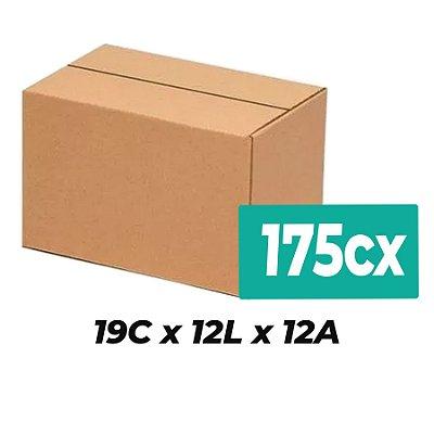 Caixa de Papelão Sedex Correio E-Commerce C:19 x L:12 x A:12 (Kit 175 Unidades)