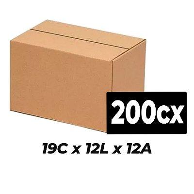 Caixa de Papelão Sedex Correio E-Commerce C:19 x L:12 x A:12 (Kit 200 Unidades)