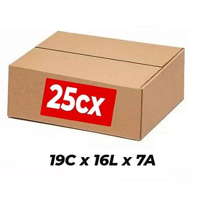 Caixa de Papelão Sedex Correio E-Commerce C: 19 x L: 16 x A: 7 (Kit 25 Unidades)