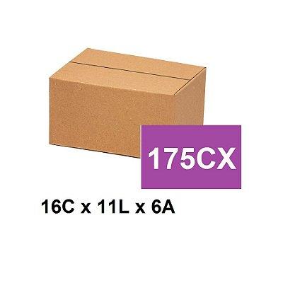 Caixa Papelão Sedex Correio E-Commerce C:16 x L:11 x A:6 (Kit 175 unidades)