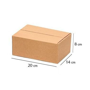 Caixa Papelão Sedex Correio E-Commerce C:20 x L:14 x A:8 cm (Kit c/ 100 unidades)