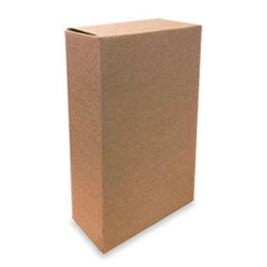 Caixa de Papelão para 2 Garrafas de Cerveja e Vinho com Colméia - C:20,4 x L:10,4 x A:35,2 cm ( Kit c/ 5 unidades)