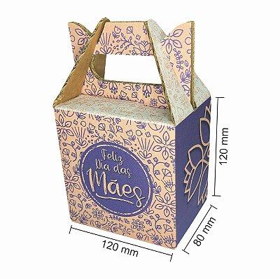 Caixa de papelão para Dia das Mães C:12xL:8xA:12 (Kit c/ 5 unidades)