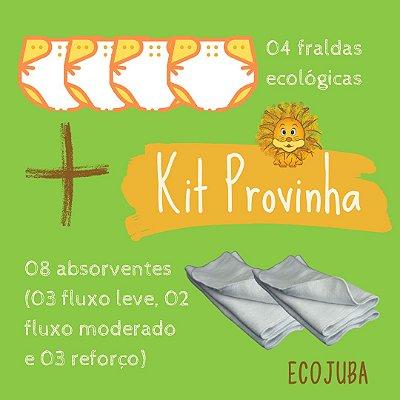 Kit Provinha - Kit Promocional de Fraldas Ecológicas EcoJuba