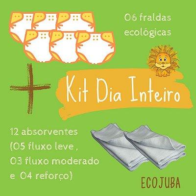 Kit 01 dia inteiro ECO - Kit Promocional de Fraldas Ecológicas EcoJuba