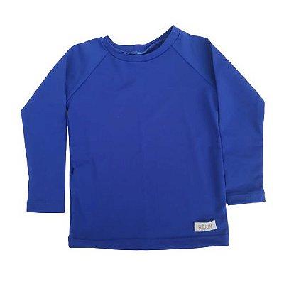 Camisa Infantil de Proteção UV Azul