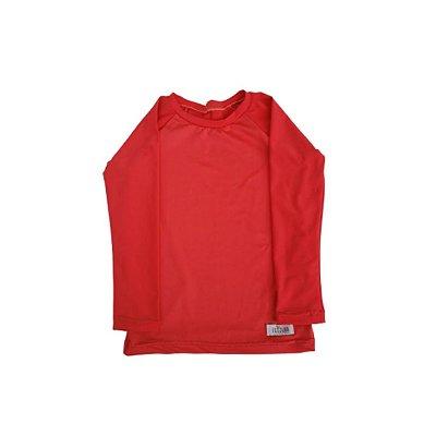 Camisa Infantil de Proteção UV Vermelha