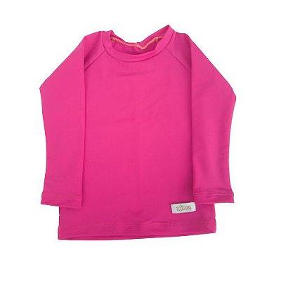 Camisa Infantil de Proteção UV Rosa