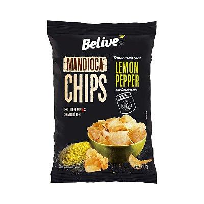 Mandioca Chips Be.Live com Lemon Pepper