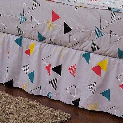 Saia Hug Bedding Solteiro - Triângulos