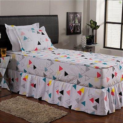Jogo de Cama Hug Bedding Solteiro - Triângulos