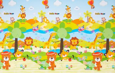 Tapete Infantil Parklon PVC Jungle 190cm x 130cm x 1,2cm