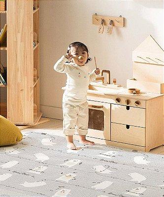 Tapete Dupla Face Infantil Parklon PVC Premium Snow Bear 190cm x 130cm x 1,2cm