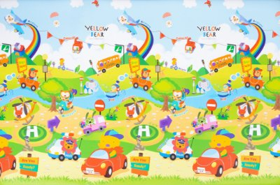 Tapete Infantil Parklon Bubble Car 190cm x 130cm x 4cm