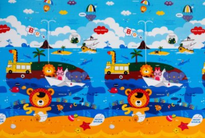 Tapete Infantil Proby PE Animal Friends 200cm x 150cm x 1,7cm
