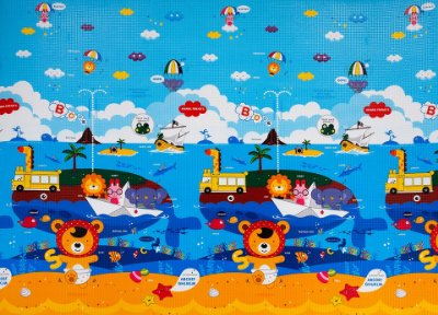 Tapete Infantil Proby PE Animal Friends 250cm x 180cm x 2,2cm