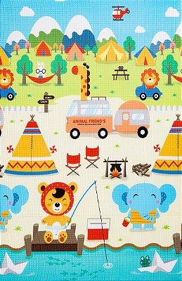 Tapete Infantil Proby PE Camping 100cm x 150cm x 1,2cm