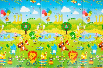 Tapete Infantil TGO Dobrável PE Fun Animal 200cm x 140cm x 0,8cm