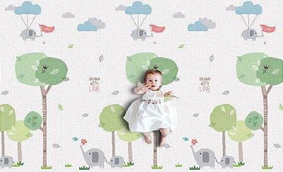 Tapete Infantil Parklon Premium PVC Grow Elephant 190cm x 130cm x 1,2cm