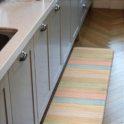 Tapete Multiuso Dupla Face Parklon PVC Premium Color Wood 120cm x 44 cm x 1,2cm