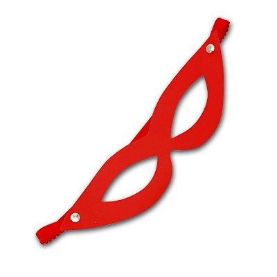 Máscara Feminina - Couro - Vermelha - Coleção Sado