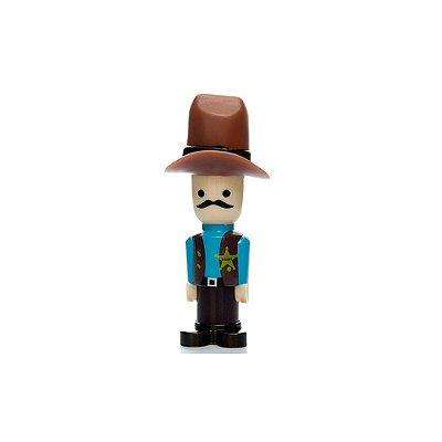 Vibrador Discreto - Formato de Boneco - Cowboy