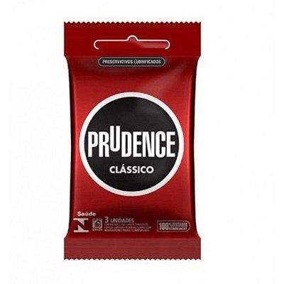 Preservativo Prudence Lubrificado Clássico - 3 Un.