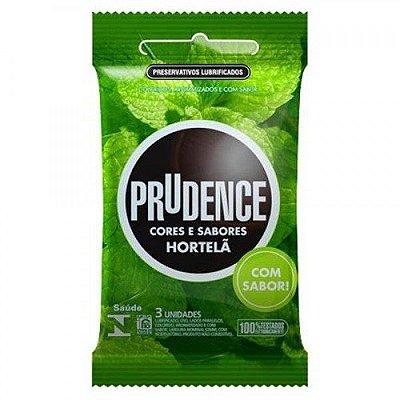 Preservativo Prudence Menta / Hortelã - 3 Unidades