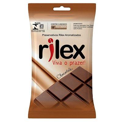 Preservativo Rilex - Aroma de Chocolate - 3 Unidades