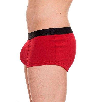 Cueca Mini Boxer com Enchimento Frontal Vermelha Tam. M