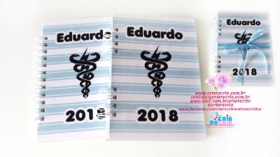 Kit AC - Agenda Simples + Caderno Personalizado