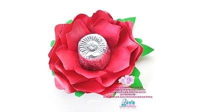 Rosa de papel com Chocolate Alpino