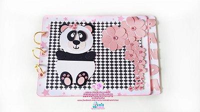 Mini Álbum em Scrap - Panda