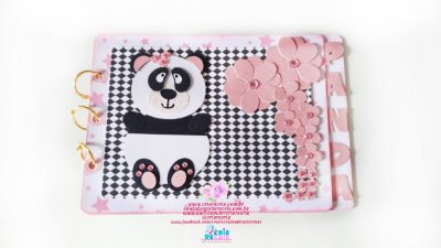 Mini Álbum Panda em Scrapbook