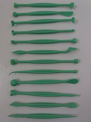 Kit estecas c/12 unds para massas de modelagem artesanais