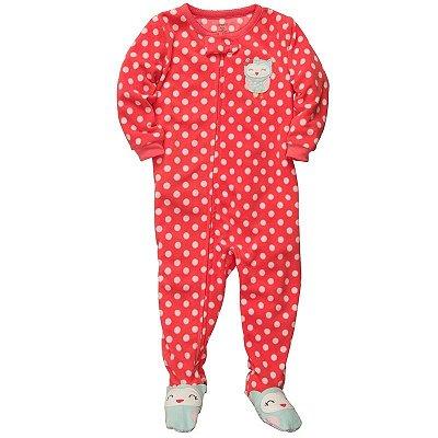 Pijama Carter's Vermelho Corujinha
