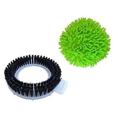 Kit Refil Limpeza Pesada e Limpeza A Seco Para Spin Mop 360
