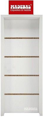 Porta de Abrir Pivotante 1011 em Madeira MDF Pintura Melanina Branca Montada no Batente de 14 cm Com Pivô e Fechadura Stan - Madebal