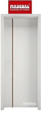 Porta de Abrir Pivotante 1009 em Madeira MDF Pintura Melanina Branca Montada no Batente de 14 cm Com Pivô e Fechadura Stan - Madebal